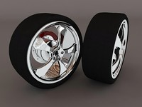 automotive wheel assembly 3d model